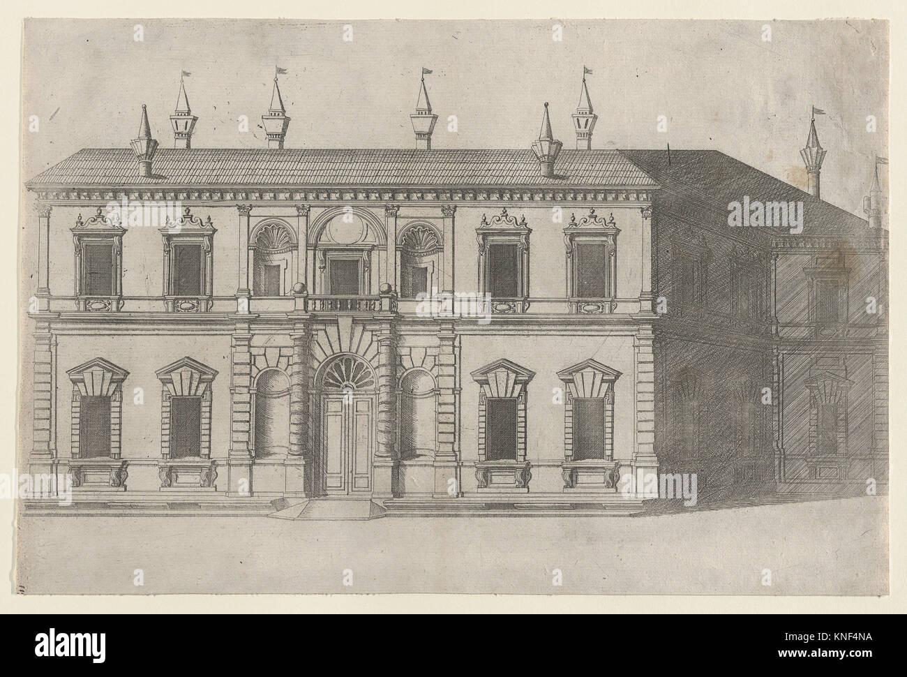Speculum Romanae Magnificentiae: Villa di Papa Giulio. Series/portefeuille: Speculum Romanae Magnificentiae. Photo Stock