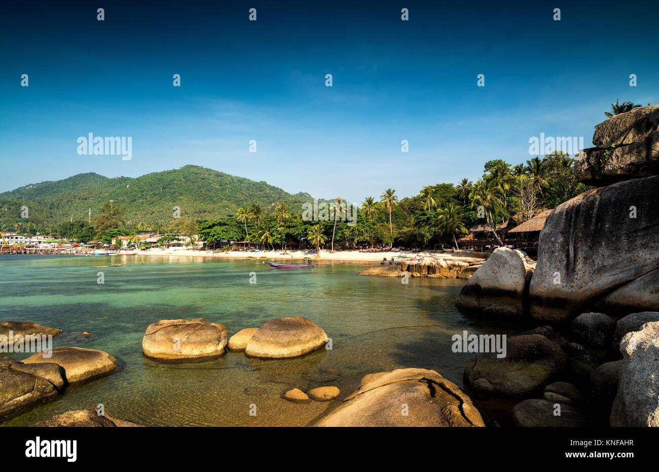 Île tropicale.. L'île de Ko Tao, Thaïlande Photo Stock