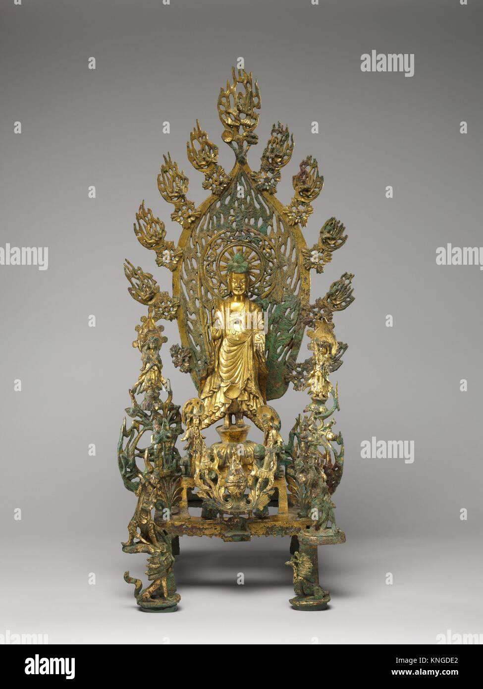 Période: dynastie des Wei du Nord (386-534); Date: du 524, Culture: Chine; moyen: Photo Stock