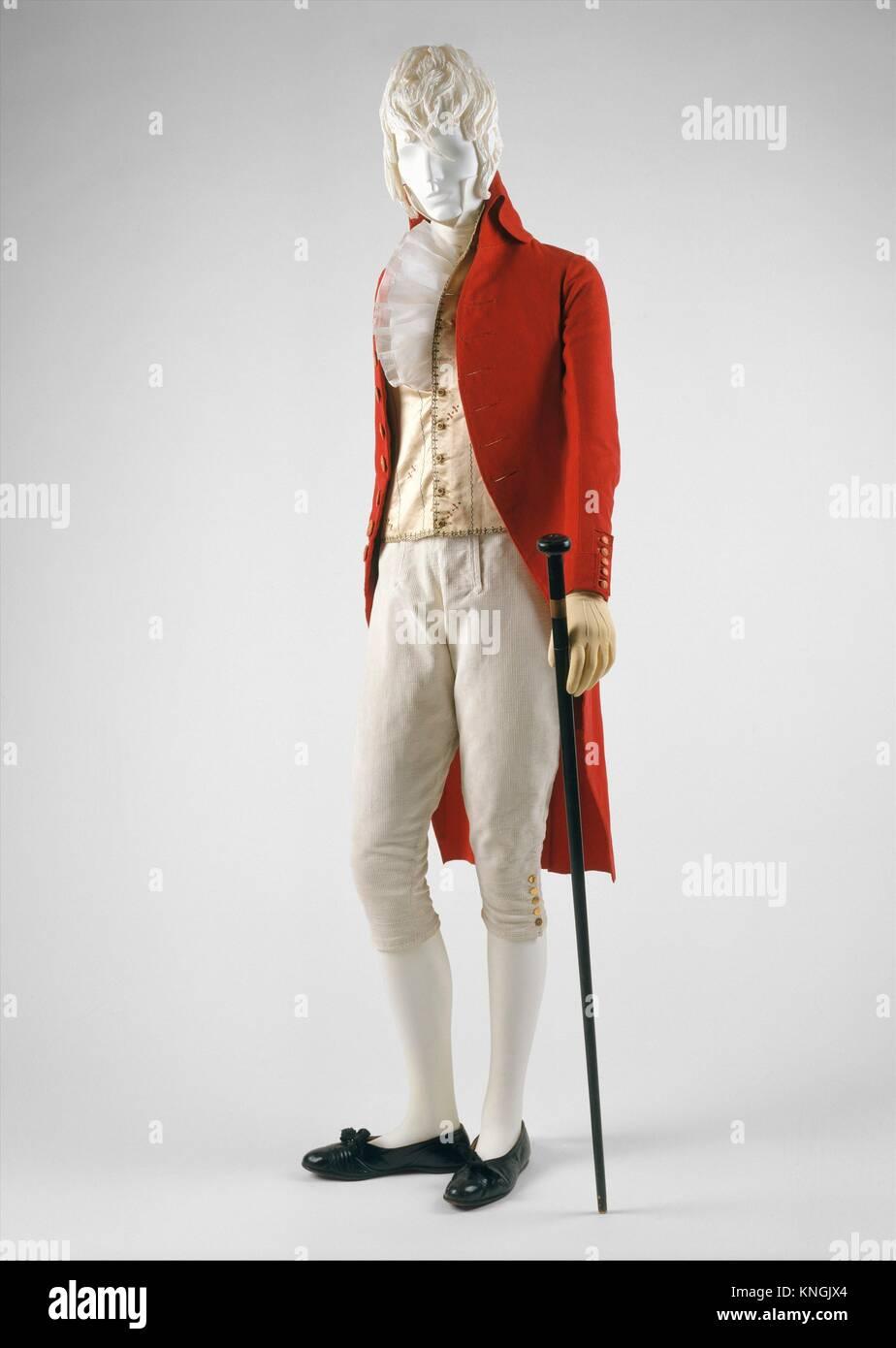 Manteau. Date: 1787-92; Culture: le français; moyen: laine; ligne de crédit: Photo Stock