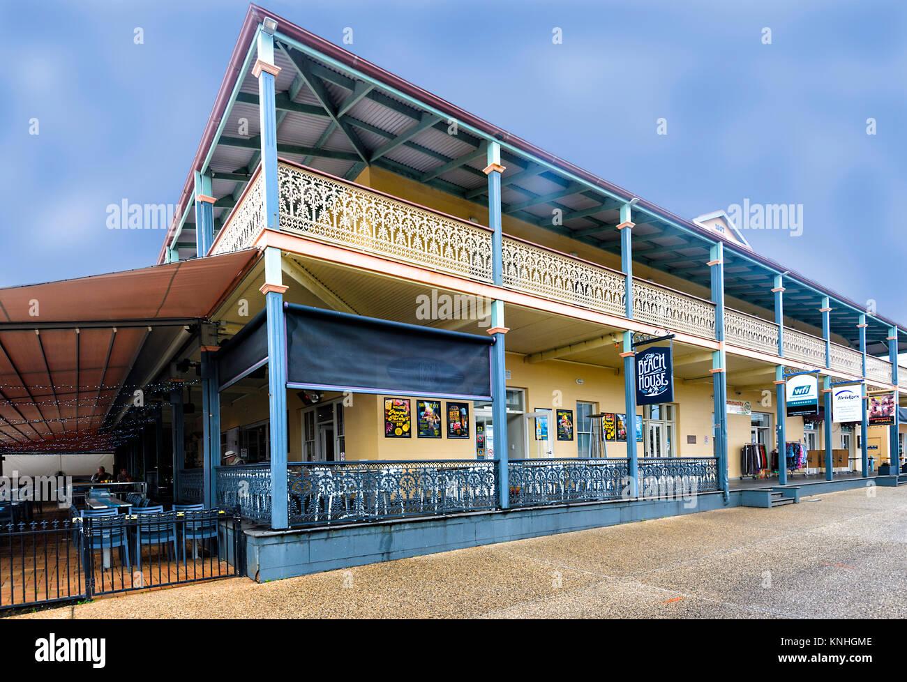 Beau bâtiment de l'historique Royal Hôtel à Port Macquarie, New South Wales, NSW, Australie Photo Stock