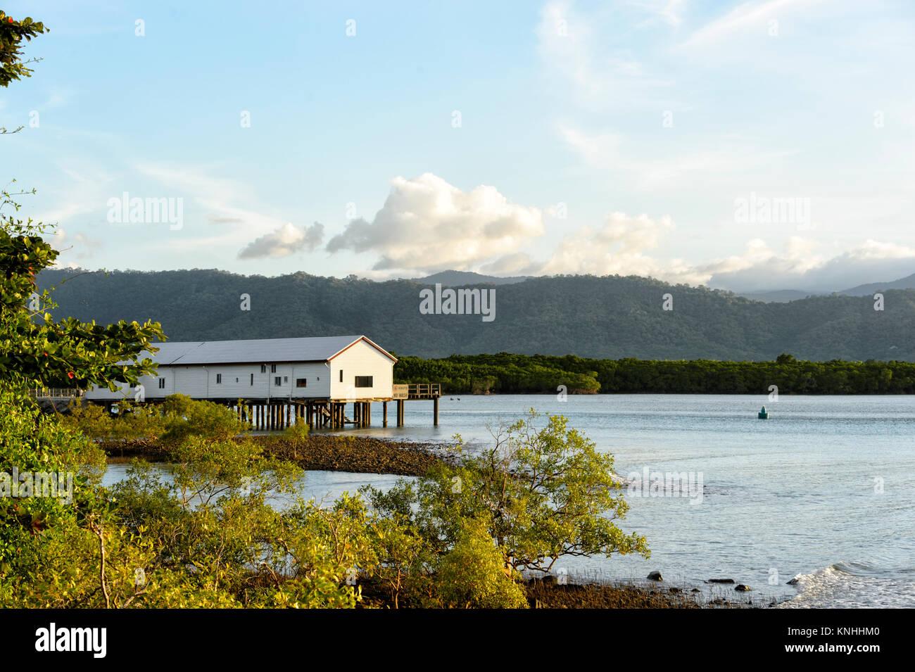Quai de sucre historique, Dickson Inlet, Port Douglas, Far North Queensland, Queensland, Australie, FNQ Photo Stock