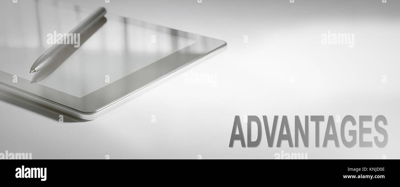 Concept d'entreprise Avantages de la technologie numérique. Concept graphique. Photo Stock