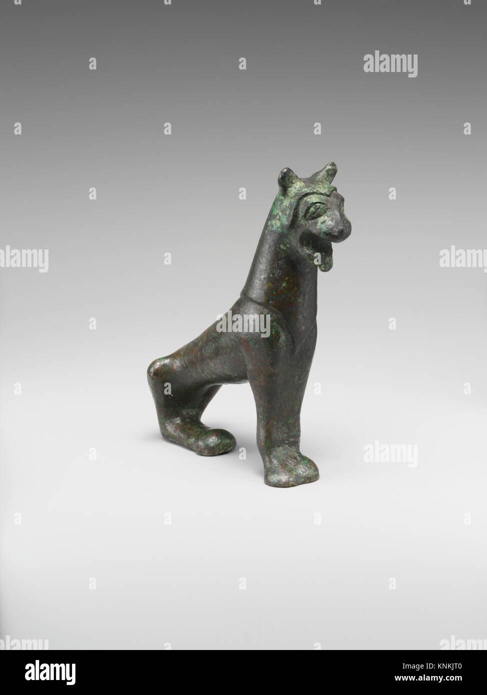 Statuette en bronze d'un lion. Période: archaïque; Date: 6ème siècle avant Photo Stock