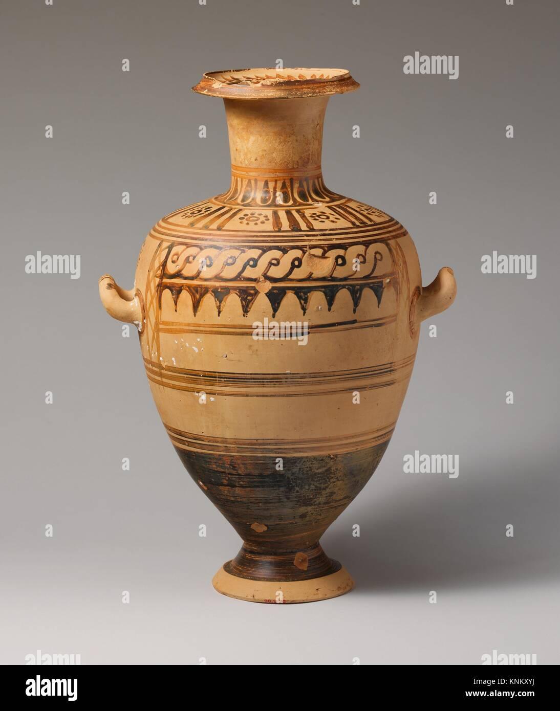 Hadra en terre cuite (hydria pot d'eau). Période: Hellenistic; Date: fin du iiie siècle Photo Stock