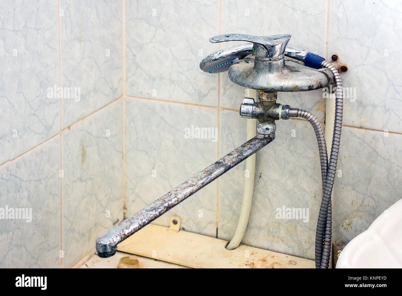 Ancien robinet de la salle de bain Banque D\'Images, Photo Stock ...