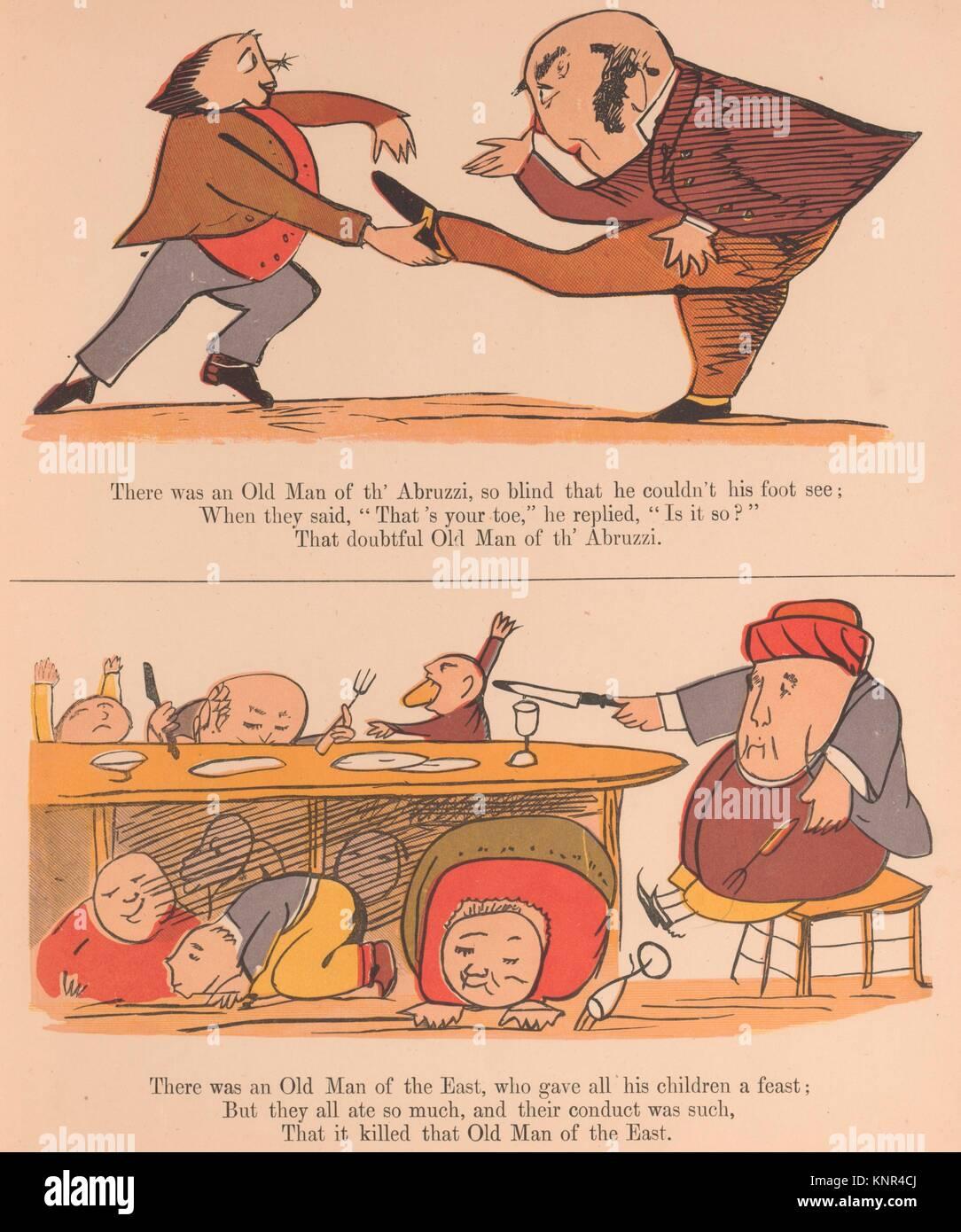 Un livre de non-sens. Auteur: Écrit et illustré par Edward Lear (britannique, Londres 1812-1888 Photo Stock