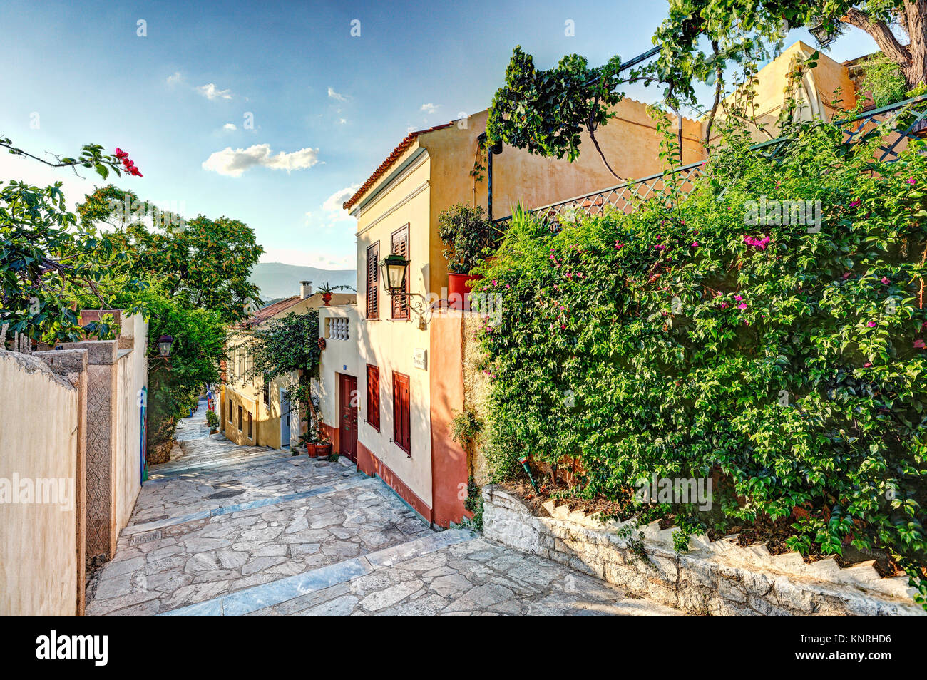 Les bâtiments pittoresques de Plaka à Athènes, Grèce Photo Stock