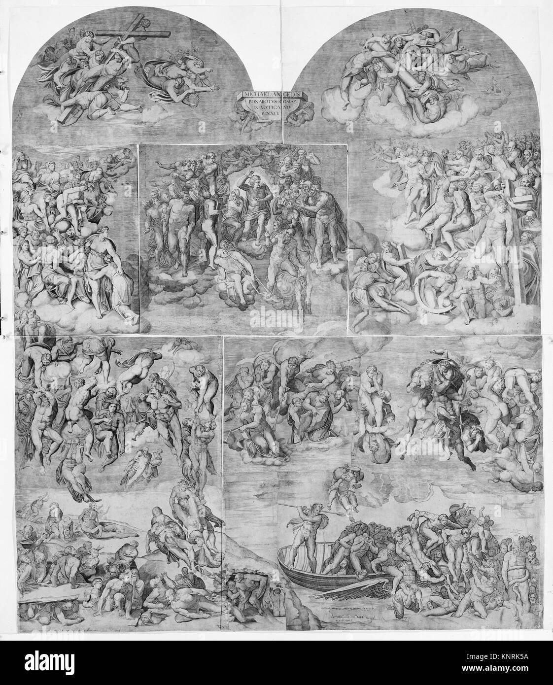 La Résurrection des Morts (partie inférieure gauche du Jugement dernier). Artiste: gravée par Photo Stock
