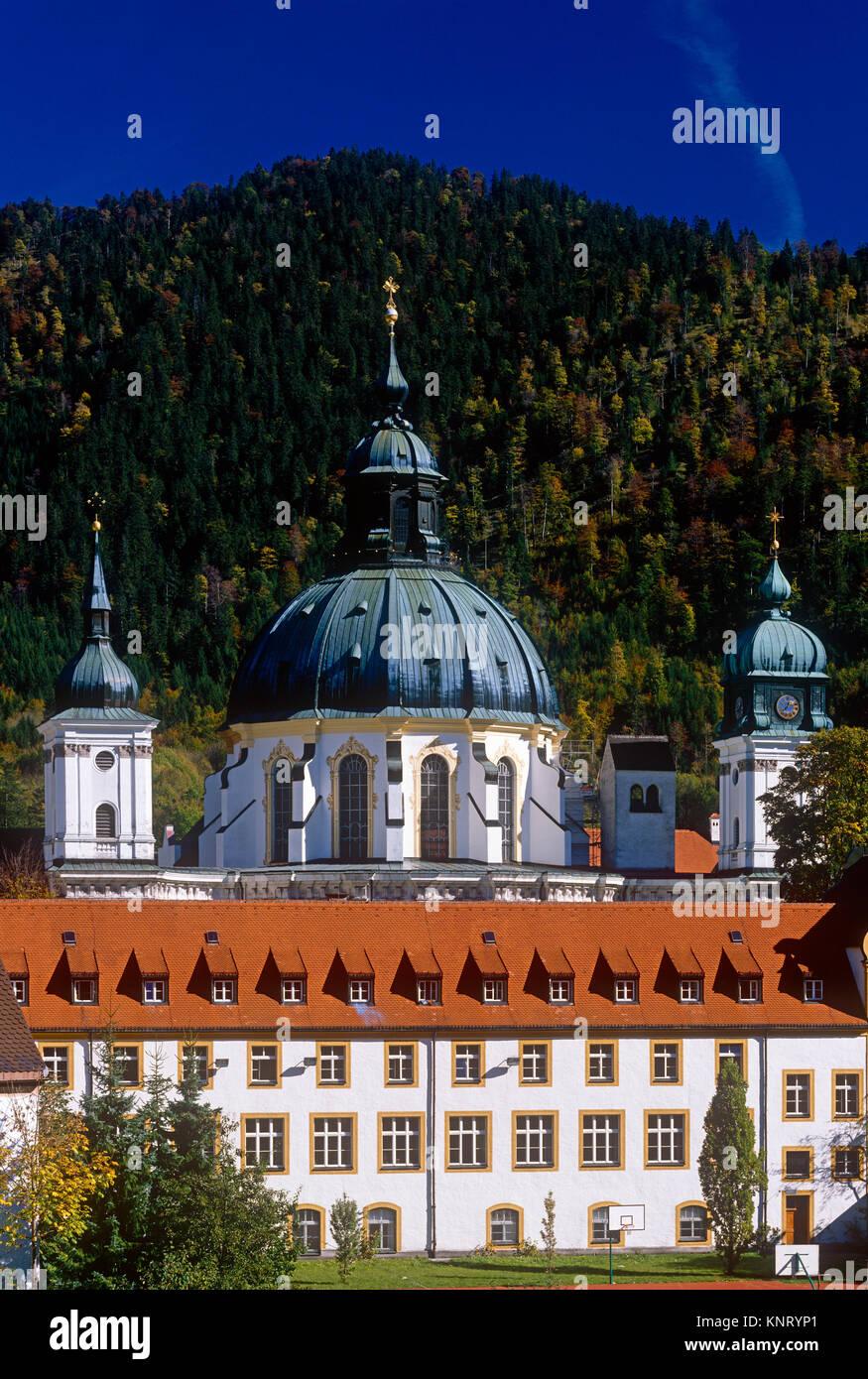 Monastère bénédictin Ettal, Bavière, Allemagne Photo Stock