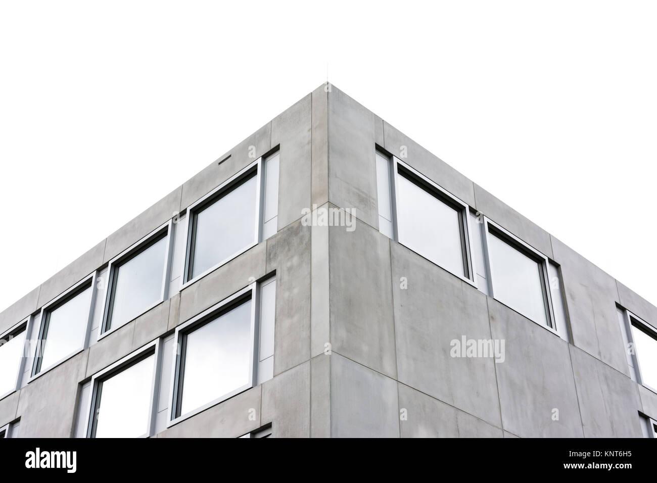 Larchitecture contemporaine symétrique carré béton construction