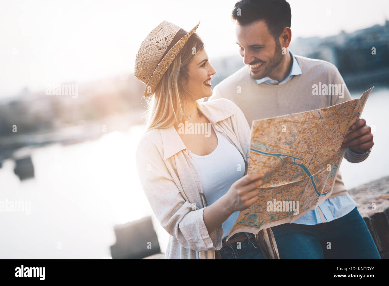 Beau couple ou vos visites Photo Stock