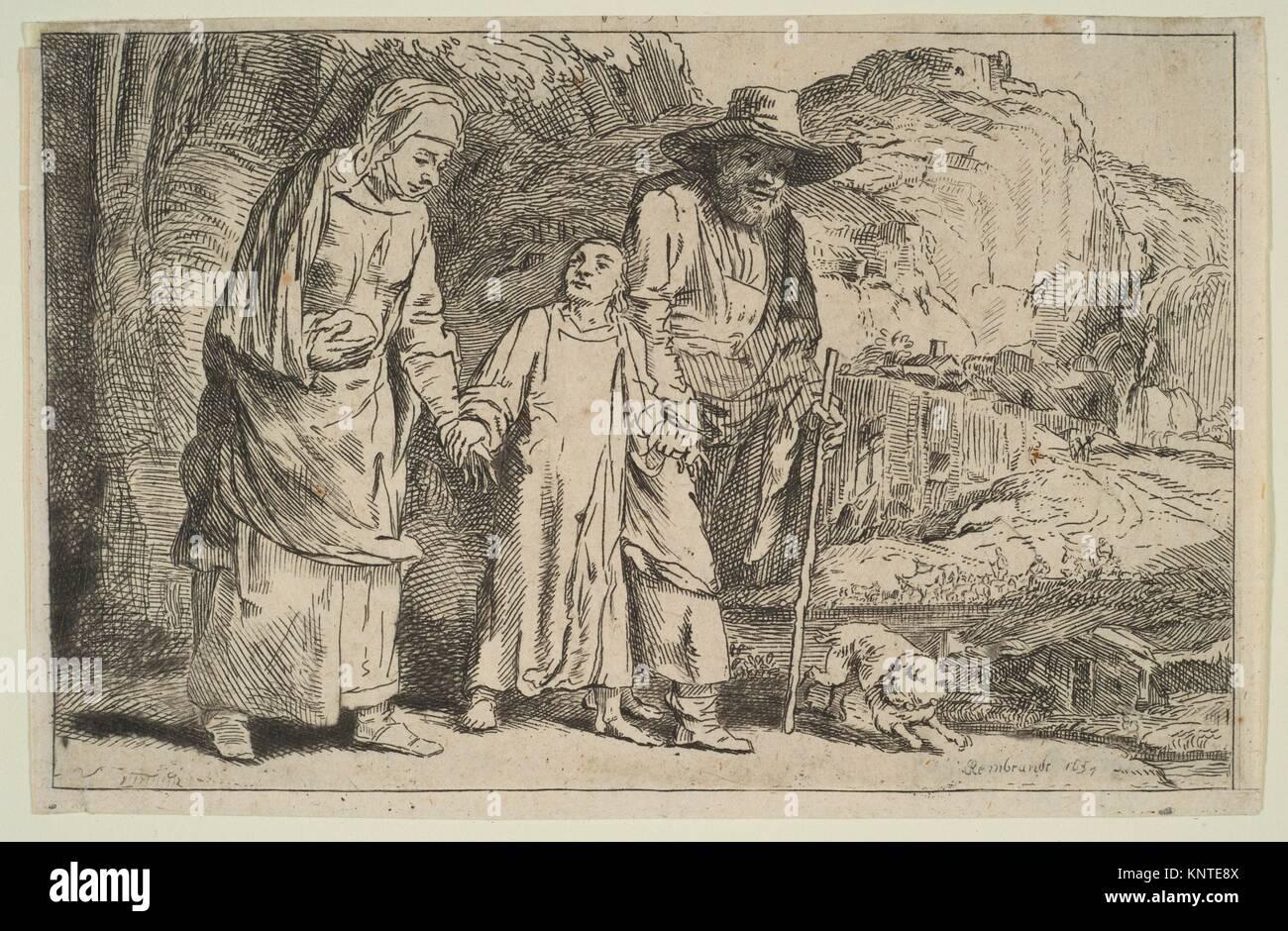 Le Christ entre ses parents de retour de la Temple. Graveur: le baron Dominique Vivant Denon (Français, Givry 1747 Banque D'Images