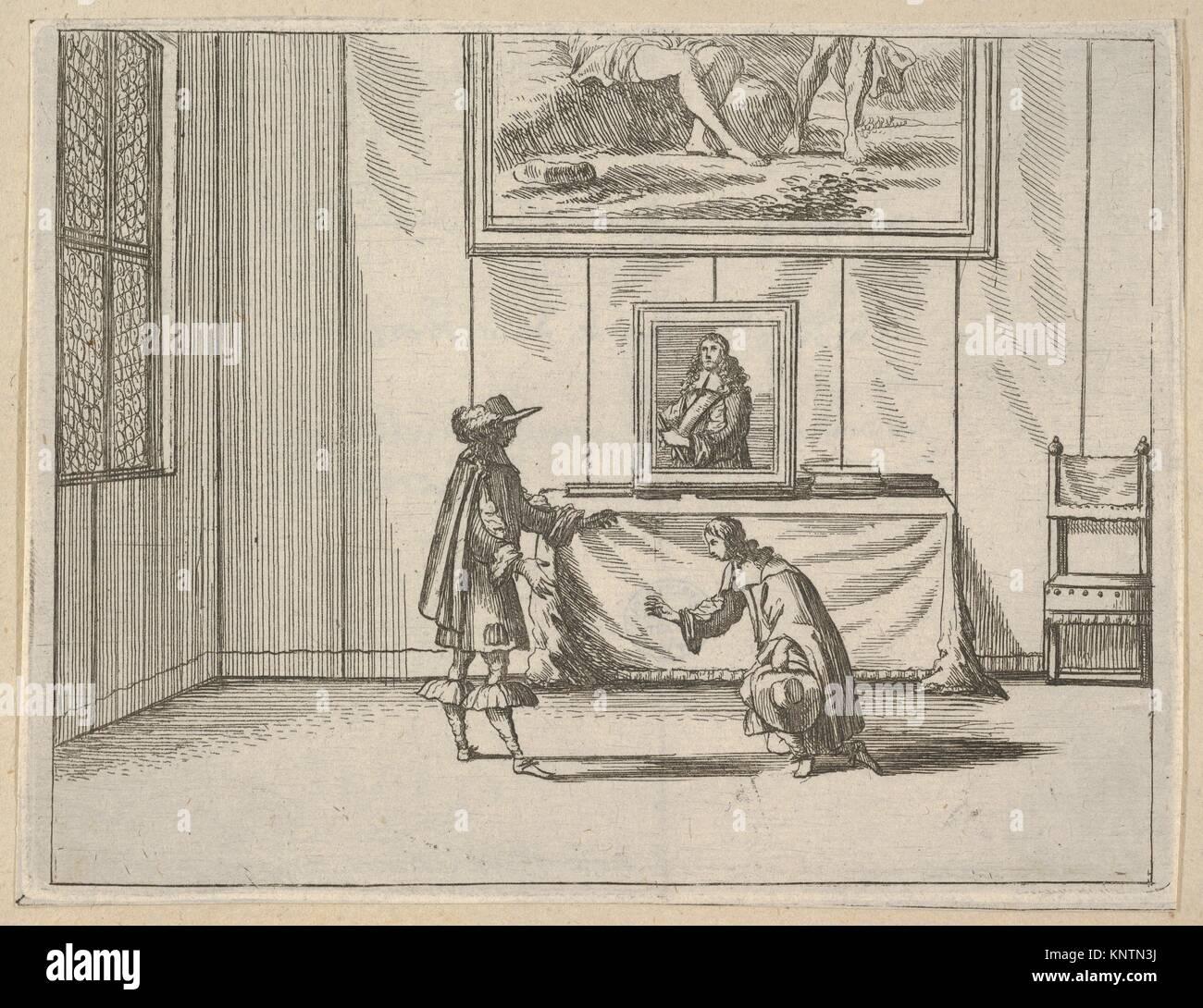Francesco I d'Este est généreux en lui pardonnant les délinquants, de l'idea di un principe Photo Stock