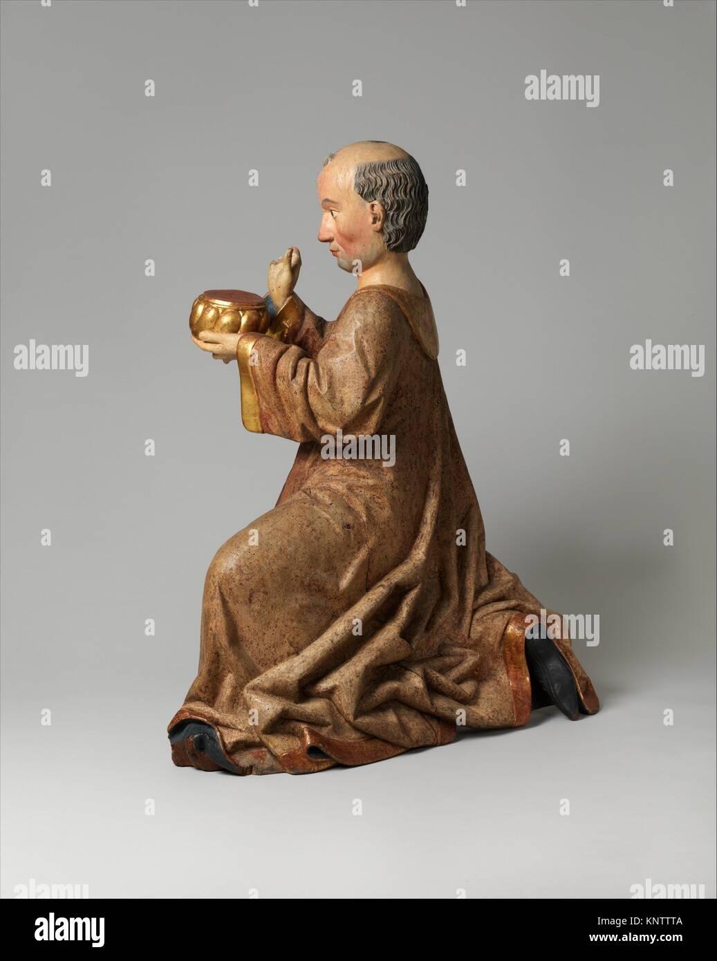 Melchior des Trois Rois à partir d'un groupe d'adoration. Date: avant 1489; Géographie: Photo Stock