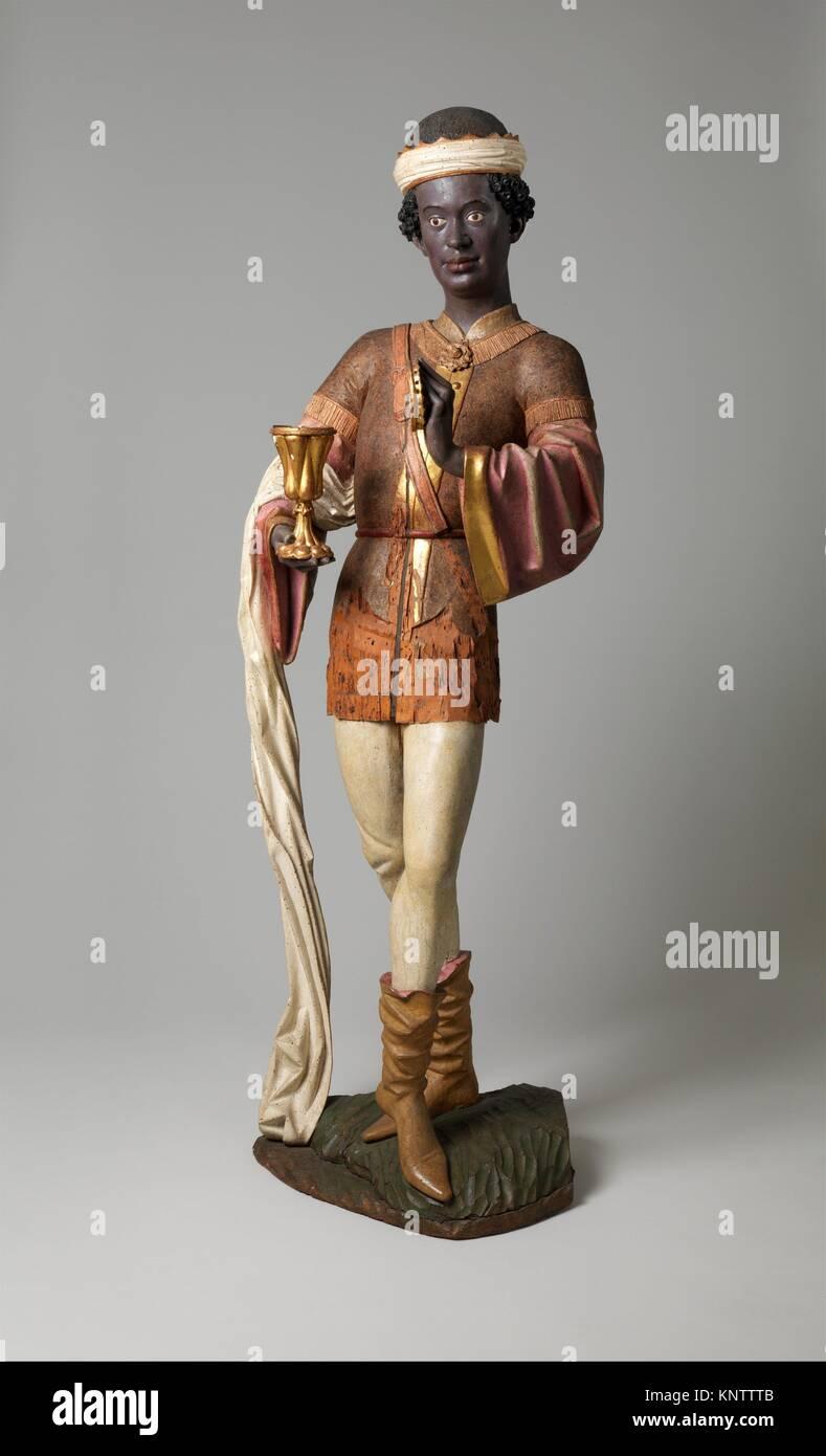 Caspar des Trois Rois à partir d'un groupe d'adoration. Date: avant 1489; Géographie: Photo Stock