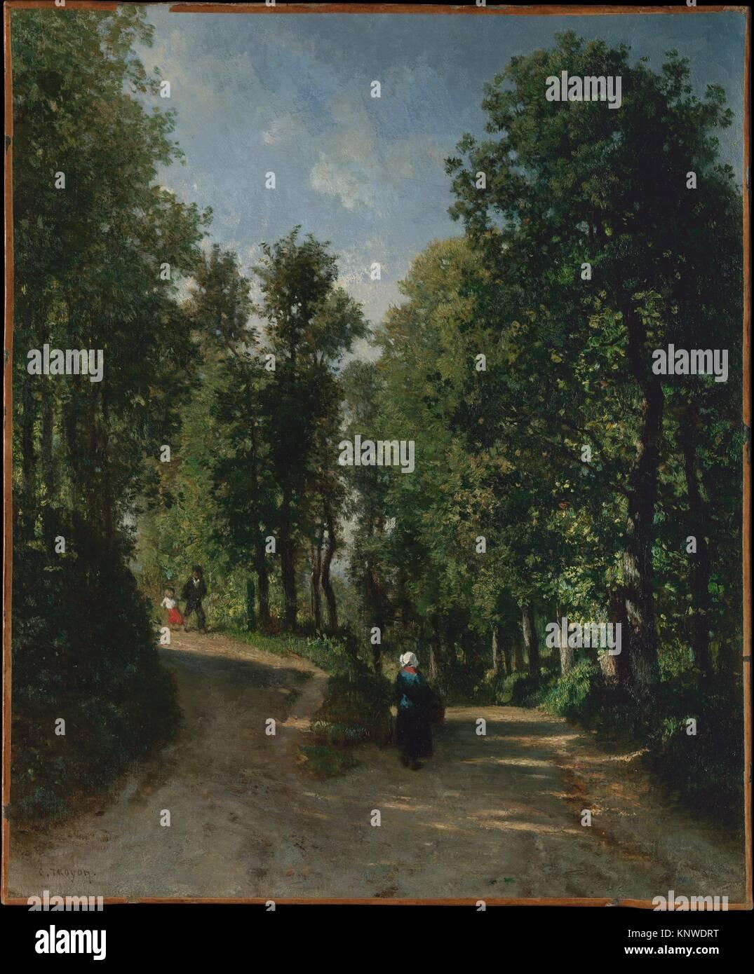 La Forêt Sur Sèvre France route dans la forêt. artiste : constant troyon (sèvres