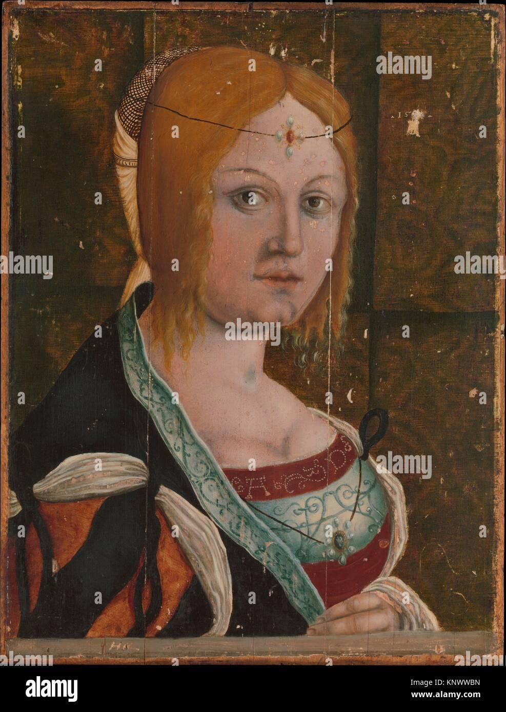 Portrait d'une femme Italienne. Artiste: peintre allemand actif (premier tiers du 16e siècle); Technique: Huile Banque D'Images