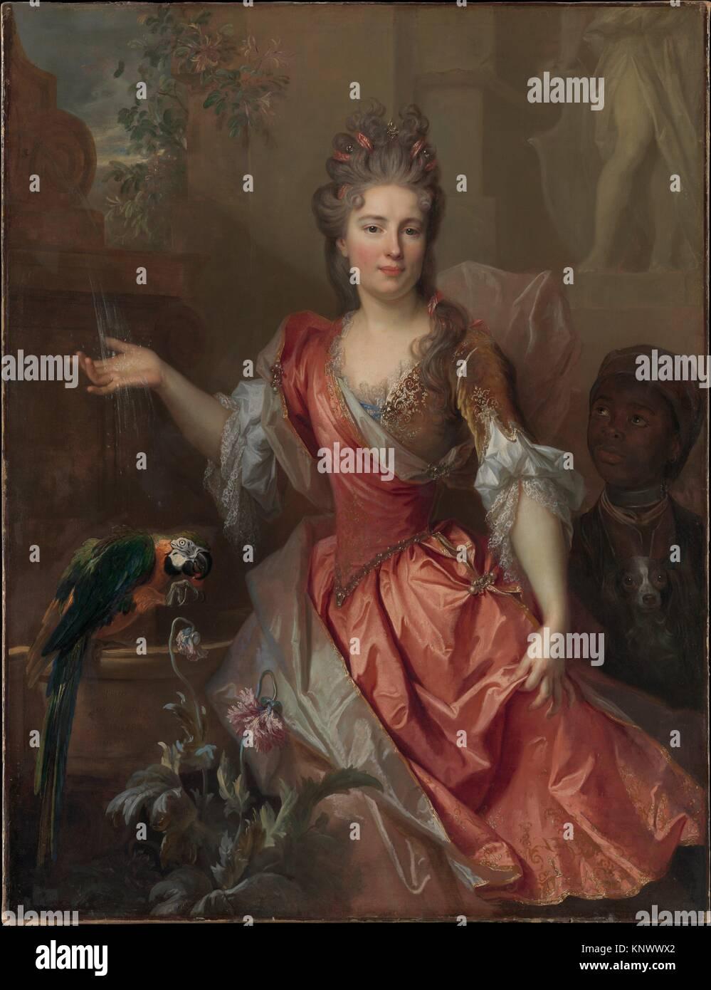 Portrait d'une femme, peut-être Madame Claude Lambert de Thorigny (Marie Marguerite Bontemps, 1668-1701), Photo Stock