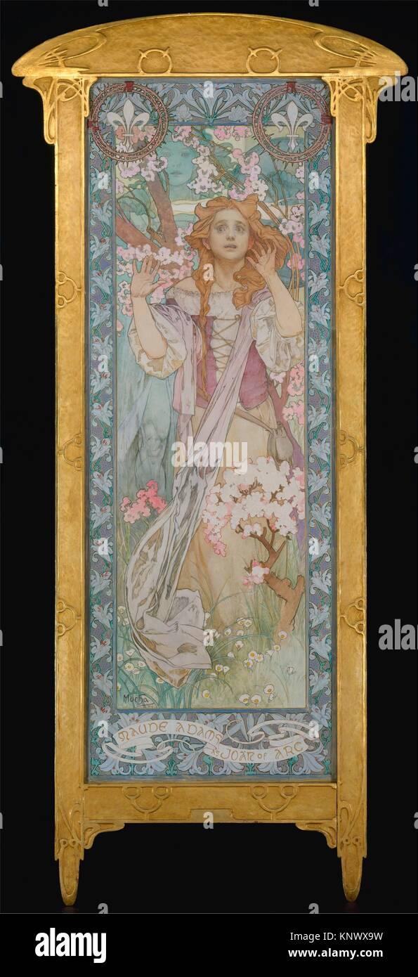 Maude Adams (1872-1953), Jeanne d'Arc. Artiste: Alphonse Mucha (République tchèque, Prague 1860-1939 IvanÄice); Date: 1909; Medium: Huile sur toile; Dimensions: 82 Banque D'Images