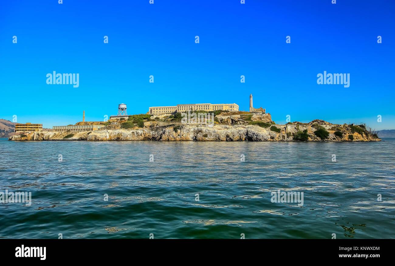 L'île d'Alcatraz à San Francisco Banque D'Images