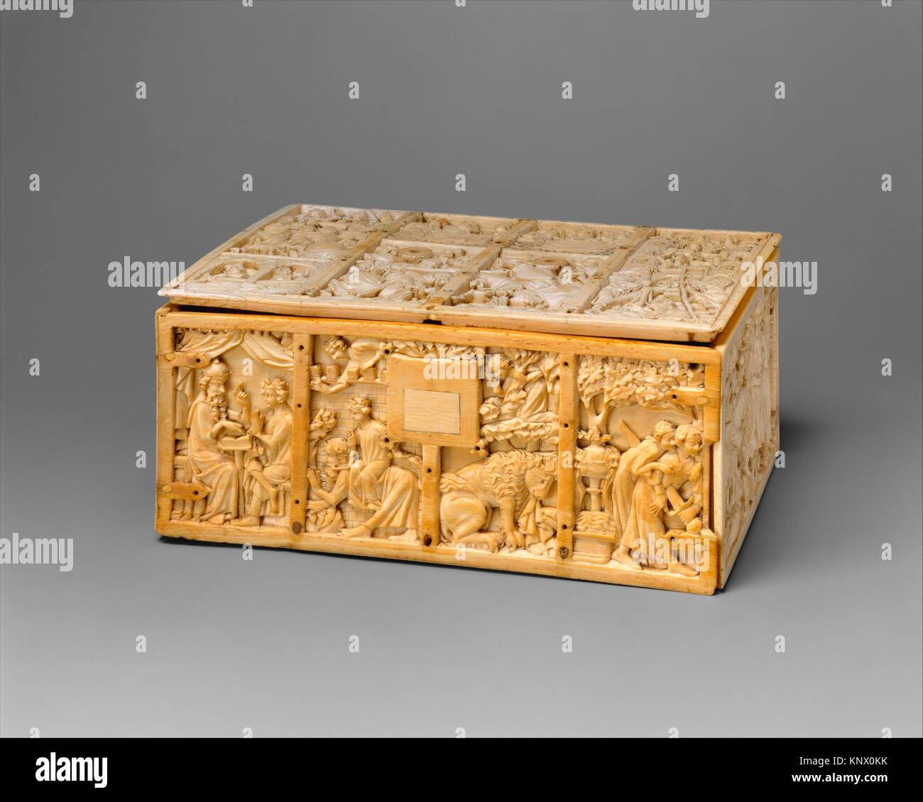 Ornée de scènes de romances. Date: ca. 1310-30; Géographie: Made in Paris, France, Photo Stock