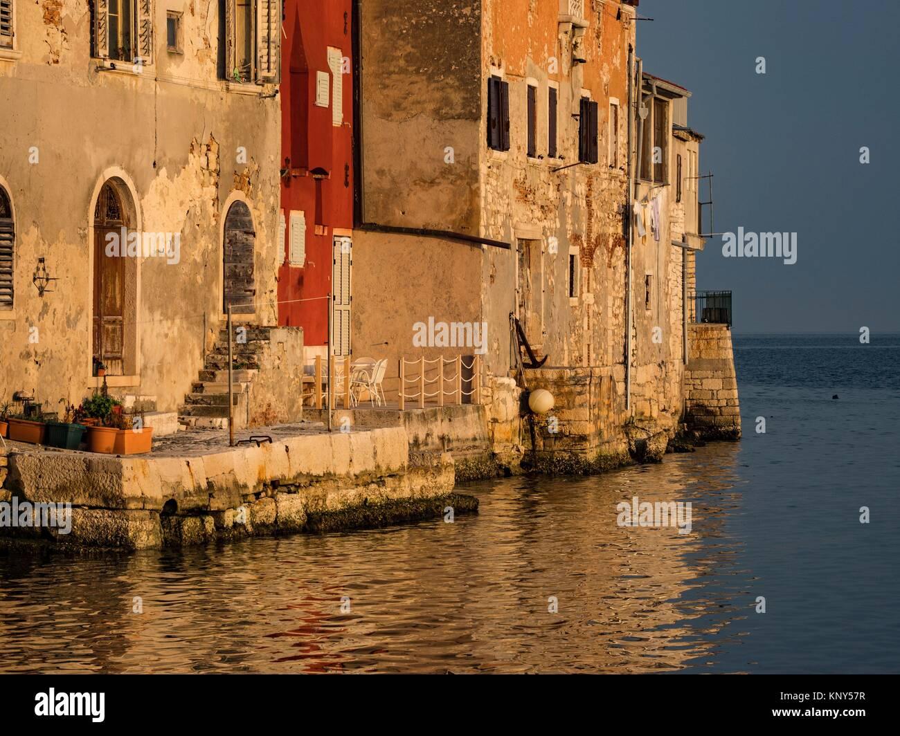 Rovinj Croatie Mer Lever du Soleil. Photo Stock