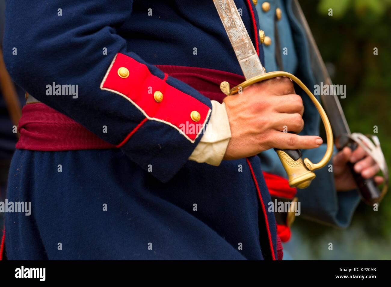L'épée de l'Union européenne, la guerre civile, 5ème Mission Willamette State Park, Photo Stock