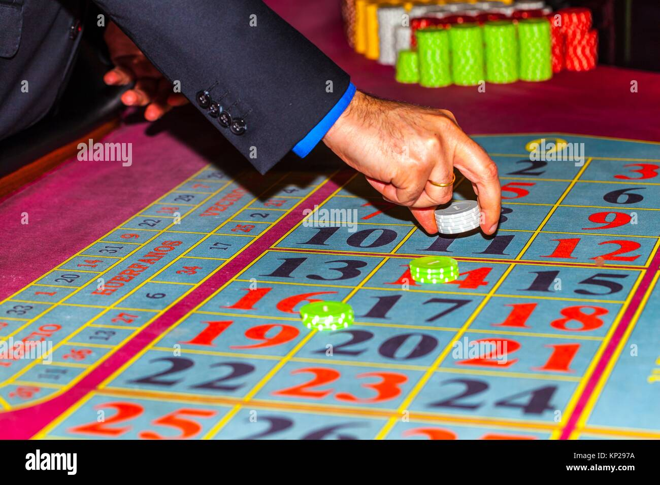 Club de jeux de casino Photo Stock