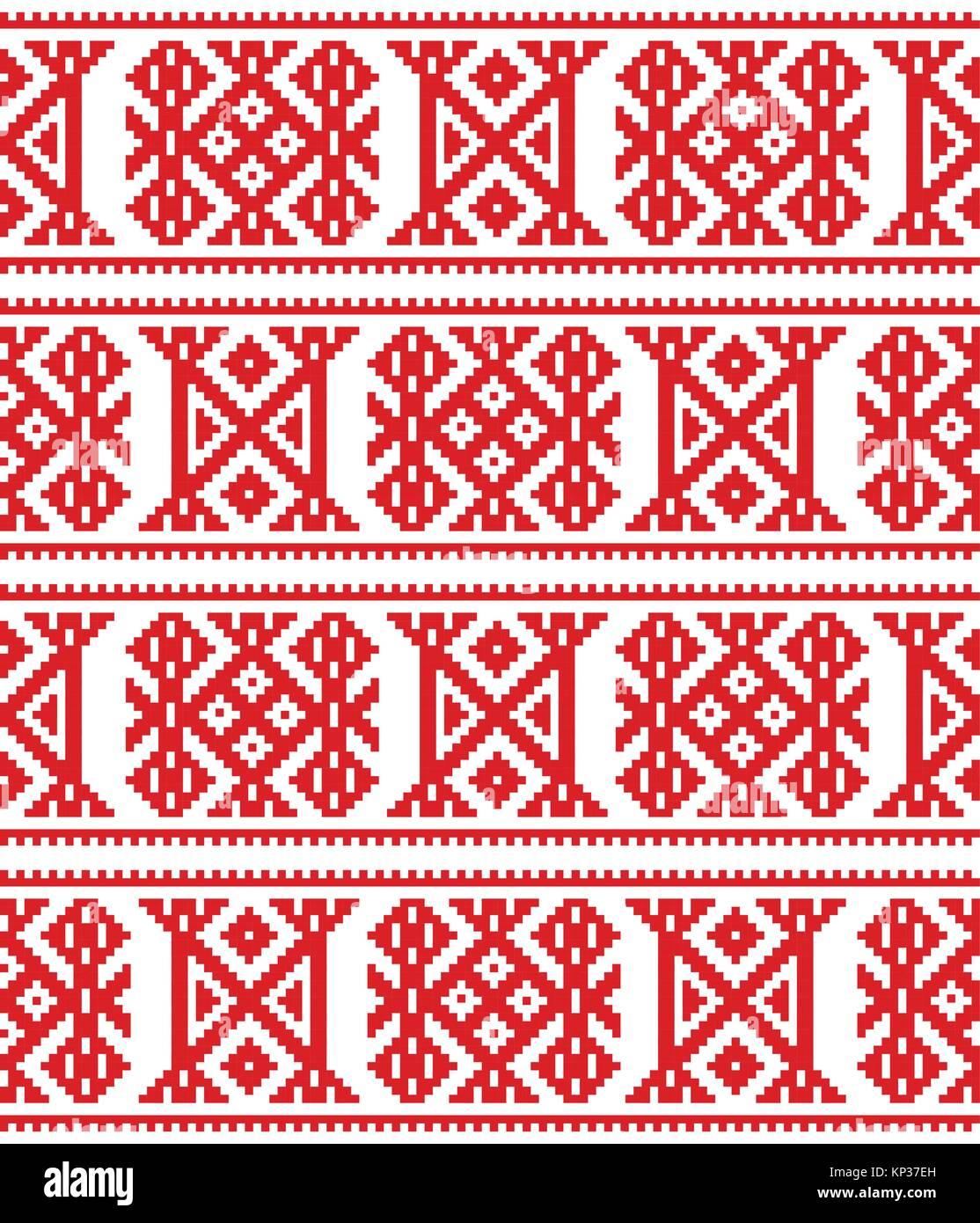 L Art Du Point De Croix design vectoriel continu sami de laponie, du point de croix