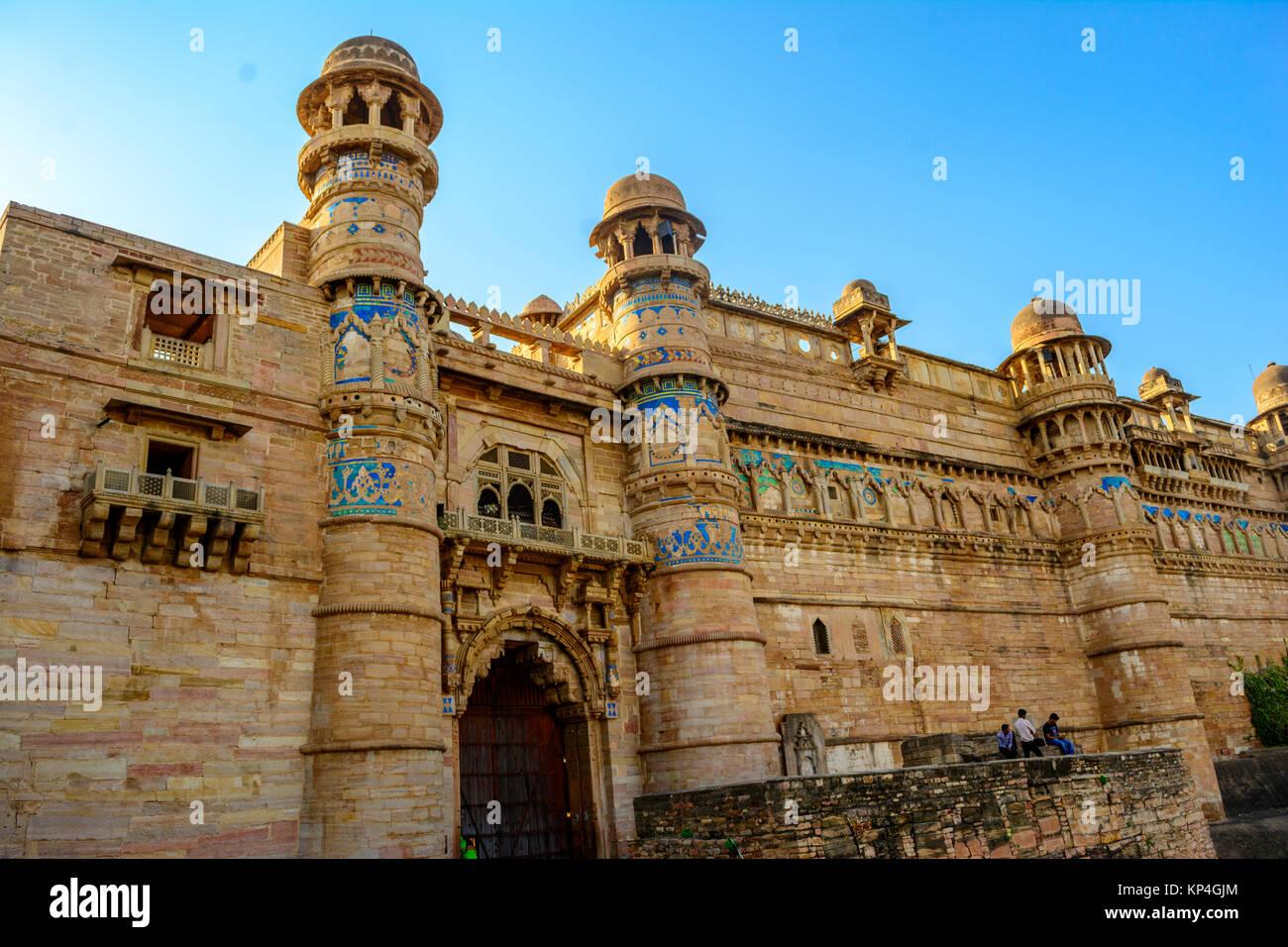 Fort De Gwalior Gwalior Dans Le Madhya Pradesh En Inde Banque D