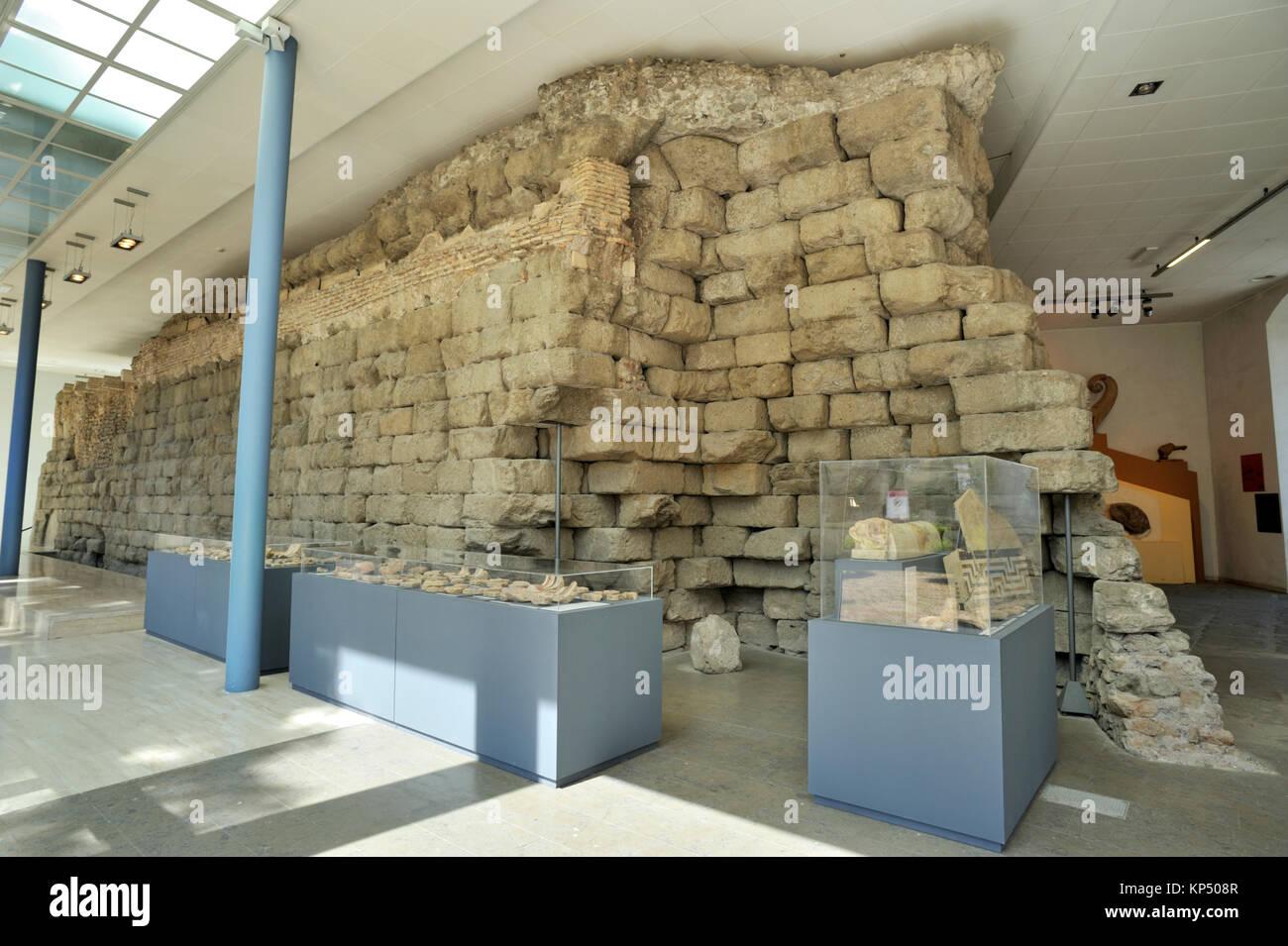 L'Italie, Rome, Musées du Capitole, Musei Capitolini, Palazzo dei Conservatori, temple de Jupiter Capitolin, Photo Stock