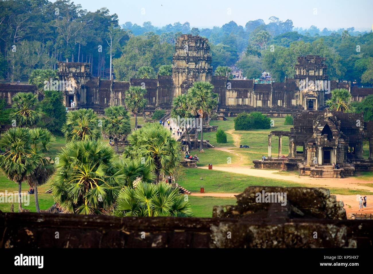 Temple d'Angkor Wat, Cambodge, Indochine, Asie du sud-est Asie,. Photo Stock