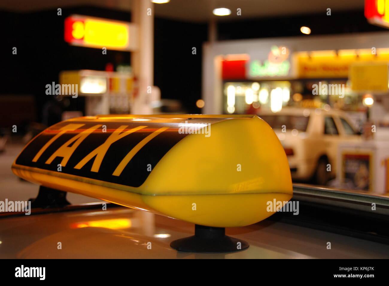 Taxi, Hamburg, Deutschland Banque D'Images