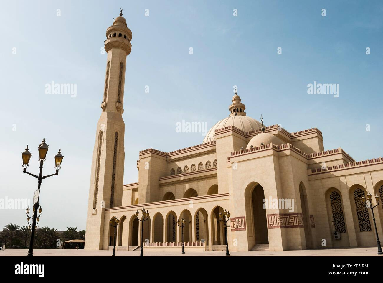 Grande mosquée Al Fateh, Manama, Bahreïn, Emirats Arabes Unis. Photo Stock