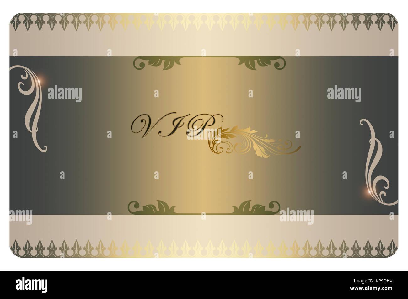 Modele Avec Des Motifs Decoratifs Pour La Conception De Carte Visite Fond Daffaires VIP