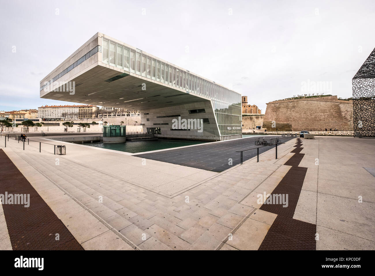 Marseille, France - le 6 mars 2017 : l'architecture moderniste de la Villa Florida Conference Center conçu par Stefano Banque D'Images