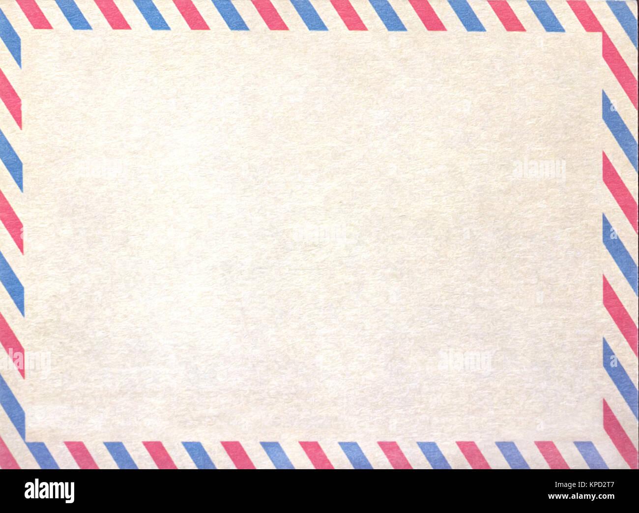 De Par Avion Vide Vide Ou Lettre Papier Carton Banque Dimages
