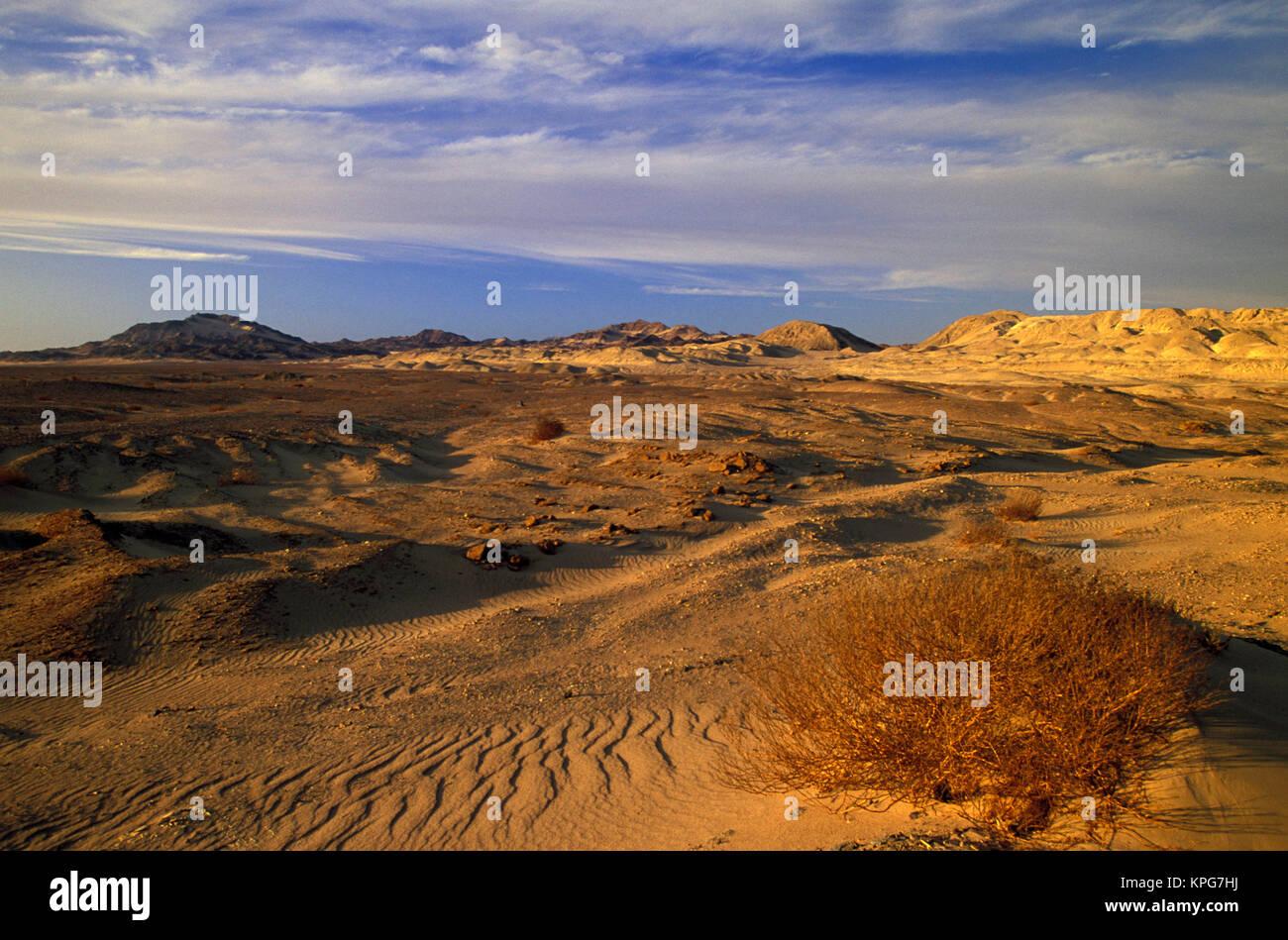 L'Afrique, l'Egypte, le Sinaï. Charm el-Cheikh, les dunes au coucher du soleil Banque D'Images