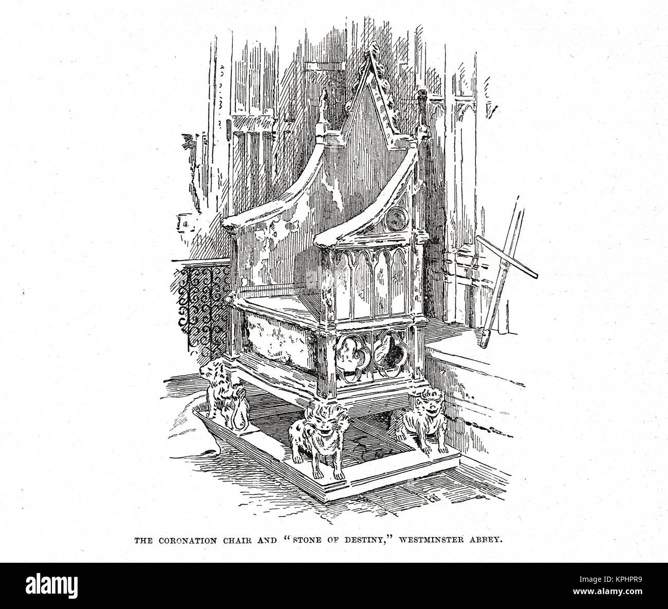 Du couronnement et de la pierre de la destinée, de l'abbaye de Westminster Banque D'Images