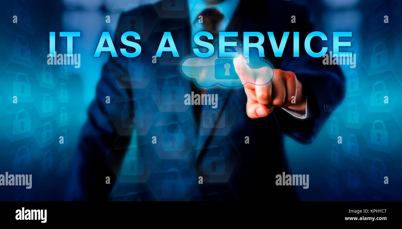 Business Unit Manager POUSSANT COMME UN SERVICE Photo Stock