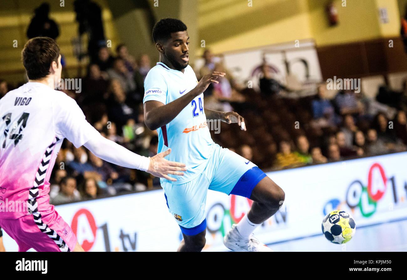 Leon, Espagne. 16 Décembre, 2017. Dika Mem (FC Barcelone) en action pendant la match de hand d'espagnol Photo Stock