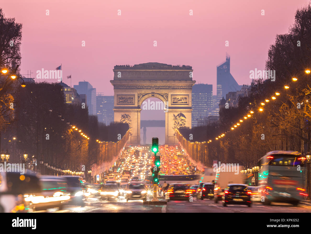 Arc de Triomphe, Champs-Elysées Paris France Photo Stock