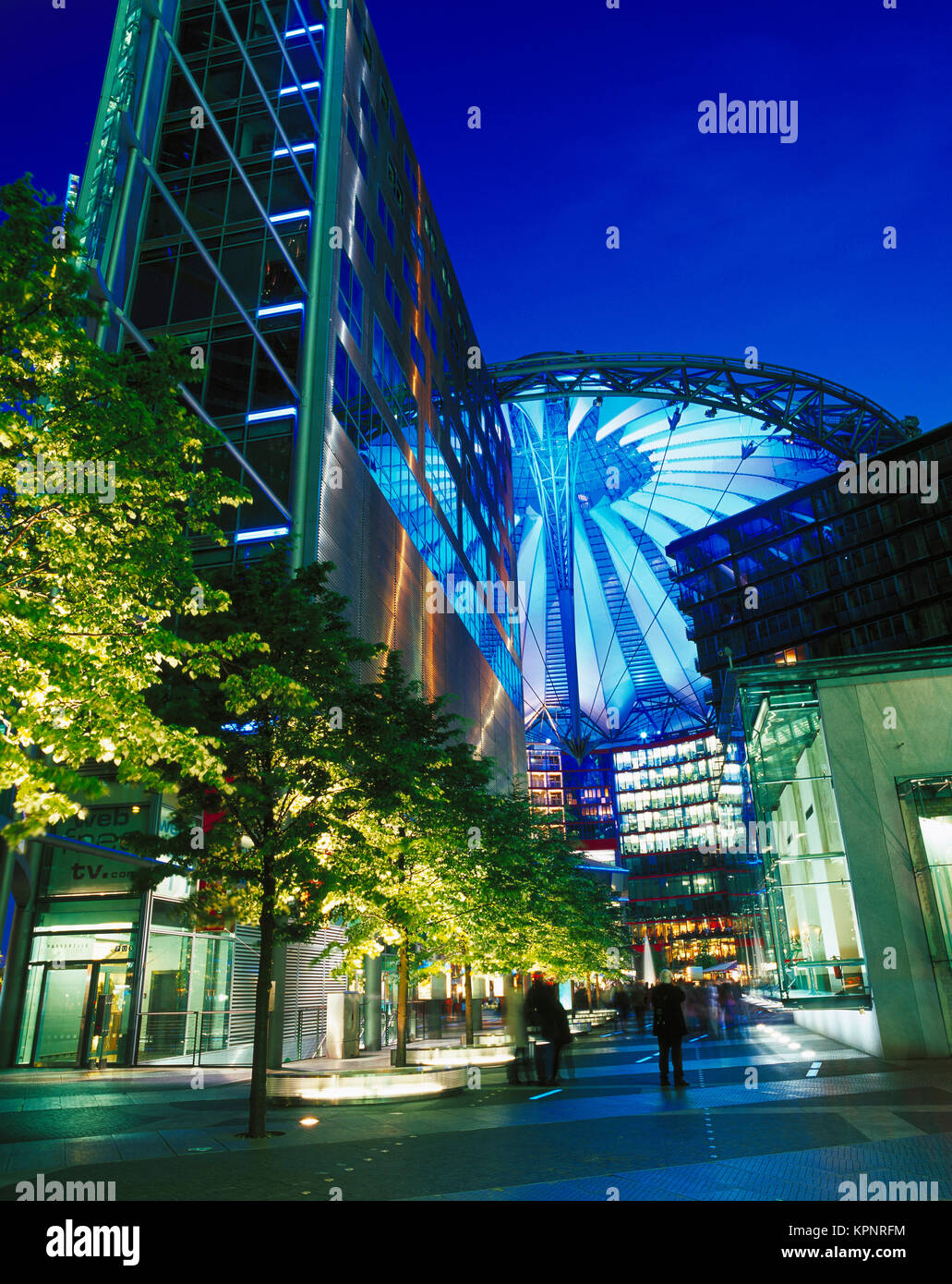 Sony Center, Potsdamer Platz, Berlin, Allemagne Photo Stock