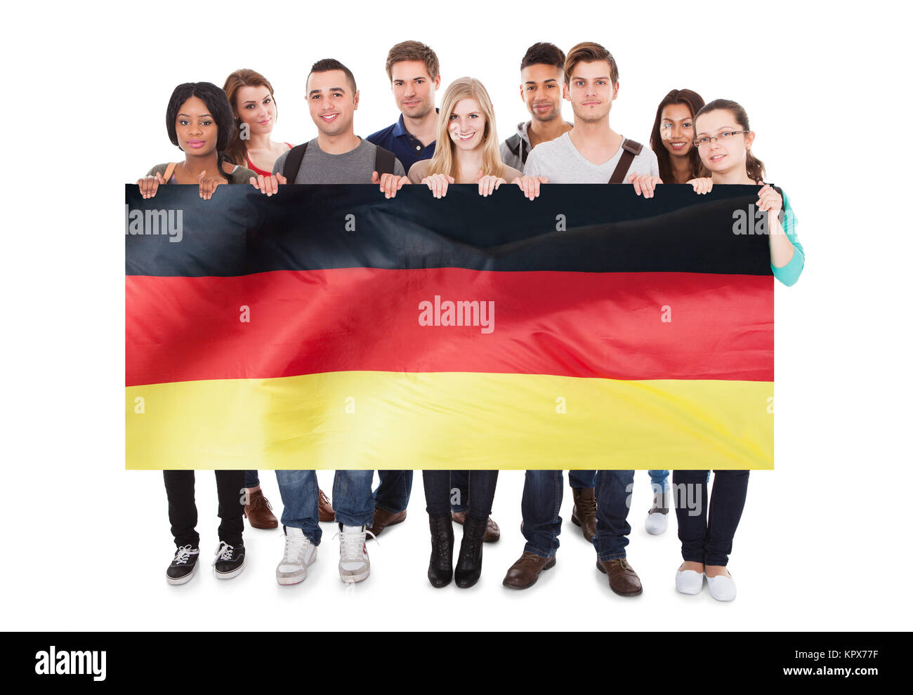 Les étudiants du Collège Affichage Blank Billboard Photo Stock