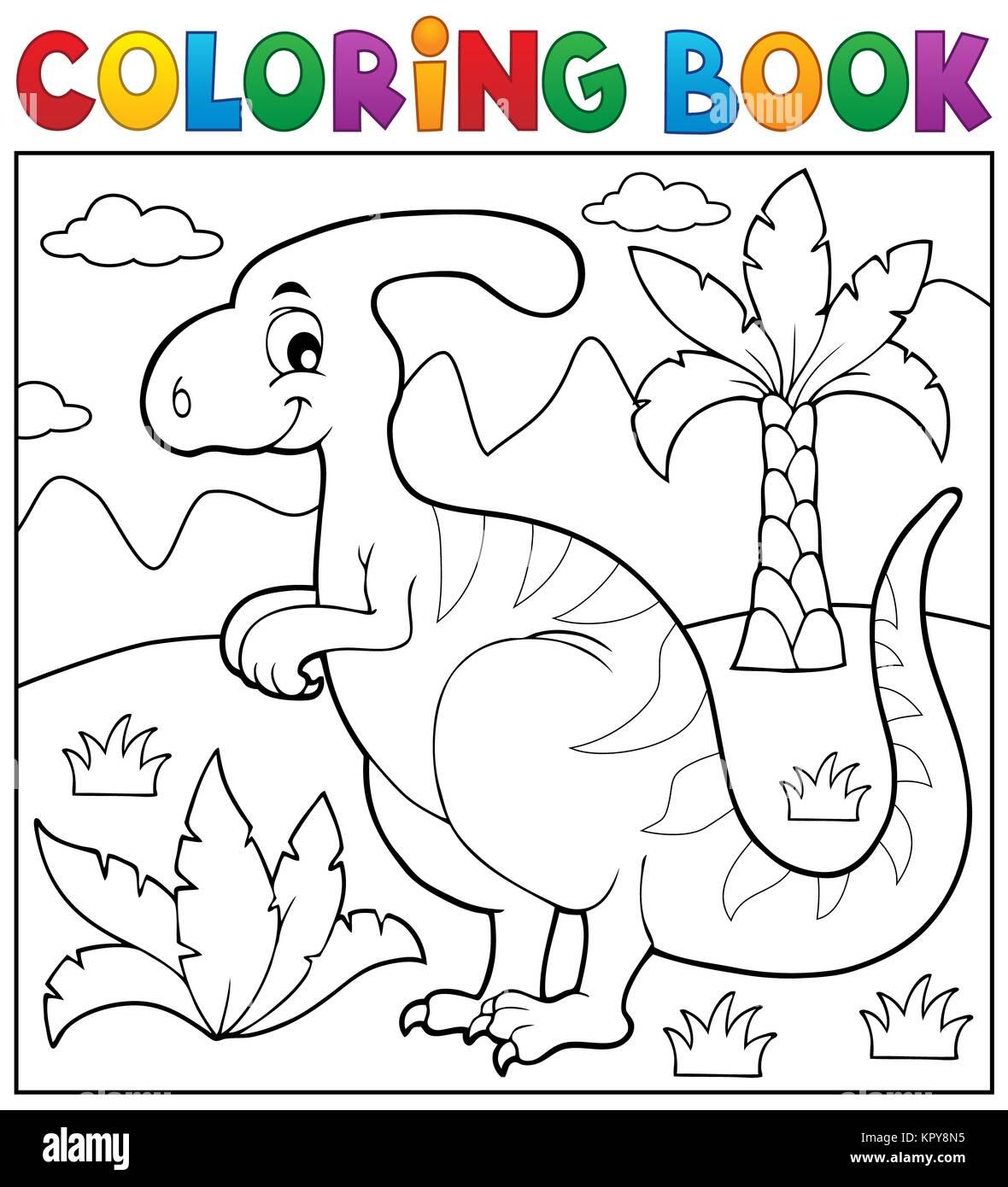 Livre Coloriage Dinosaure.Theme 4 Livre De Coloriage Dinosaure Banque D Images Photo Stock