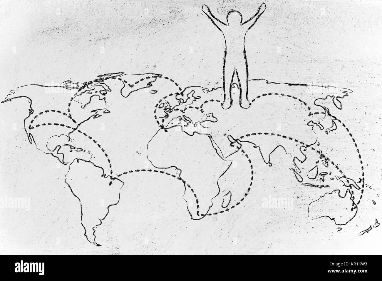 La Vie De Globetrotter Carte Du Monde Avec Les Lieux Visites