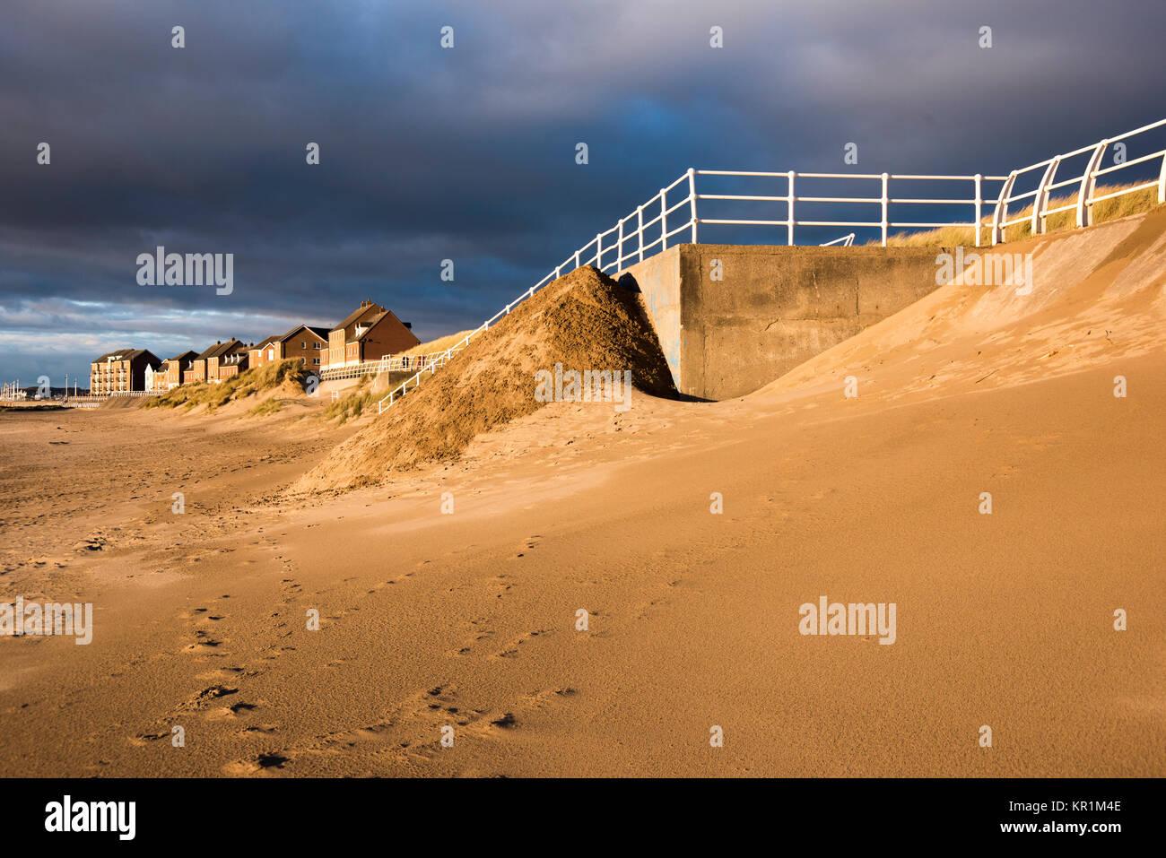 Et Baglan Bay Sands d'Aberavon, West Glamorgan, Pays de Galles, Royaume-Uni. Banque D'Images