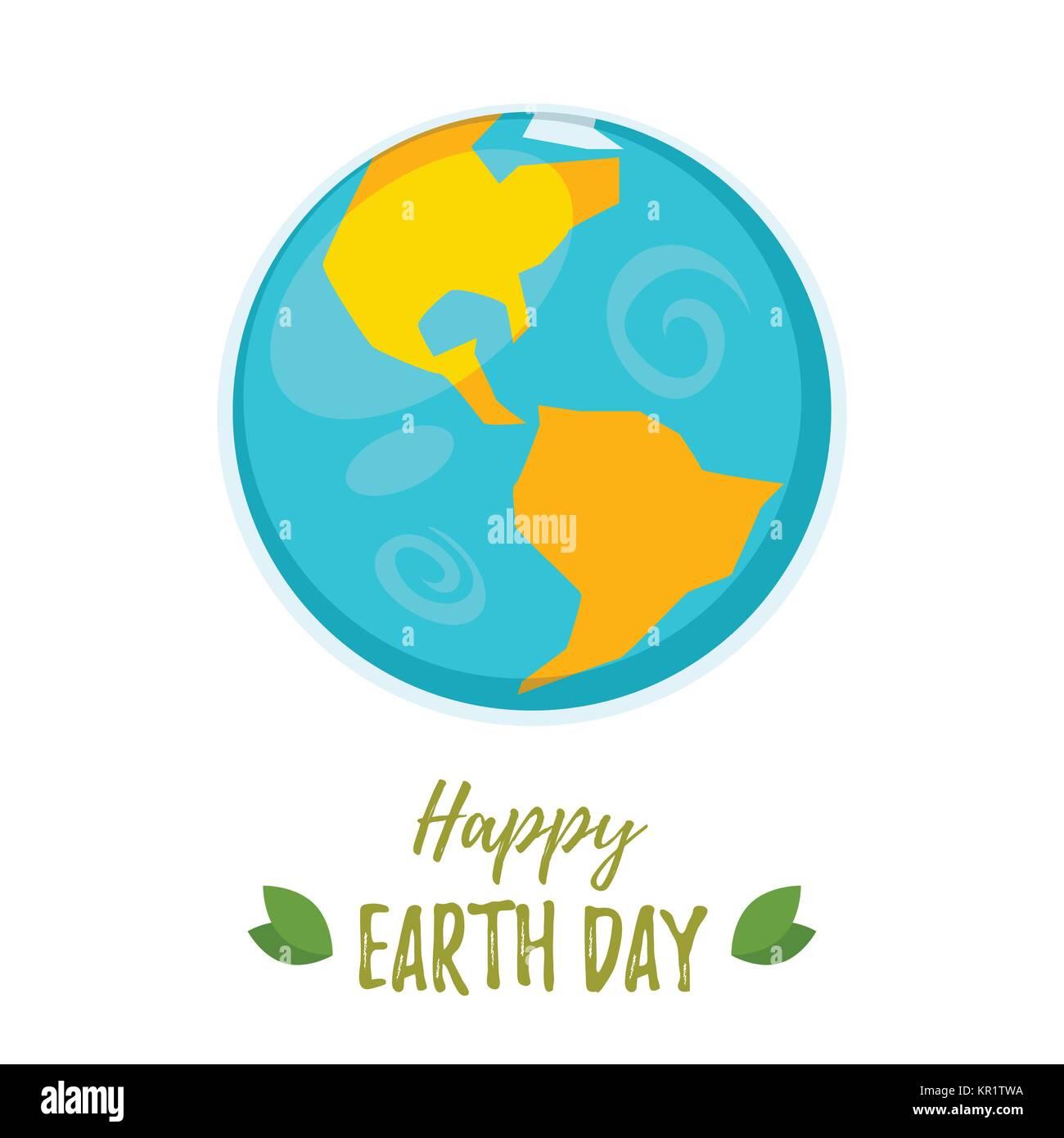 Carte de vœux le jour de la terre Photo Stock