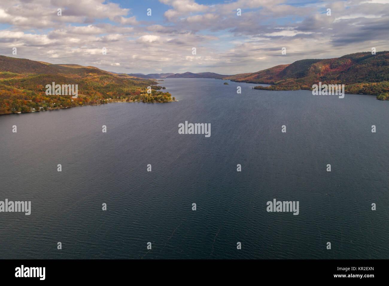 Vue depuis le point du jour du sabbat, le lac Saint-George, New York, USA Photo Stock